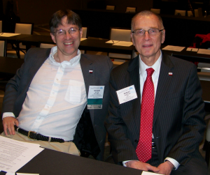 Richard Dutton, MD with Robert Johnstone, MD at  the Board of Directors meeting in March