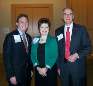 L-R, John Zerwas, MD, ASA President, Jane Fitch, MD, President-elect,  Robert Johnstone, MD at March ASA BOD meeting