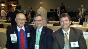 2014 L-R Drs R Johnstone - A Skaff and B Grose at the ASA House of Delegates