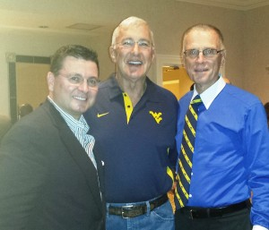 2014 Reception photo (L-R) Jim Cain MD (former WVSSA president) - David Smith MD (former WVU  faculty member) - R Johnstone