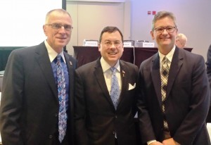 (L-R) Drs  Bob Johnstone - John Abenstein (ASA President) - Alex Skaff at the March 2015 ASA Board of Directors meeting